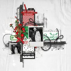 Reindeer Crossing - layered scrapbook layout #shopDesignerDigitals #studioDD #LayerWorks