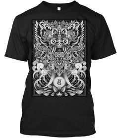 Bali Barong Black T-Shirt Front