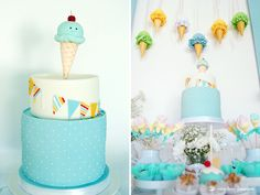 The cake for this ice-cream themed baby shower