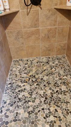 Tiling A Shower Floor product description Sliced Cobblestone Pebble Tile
