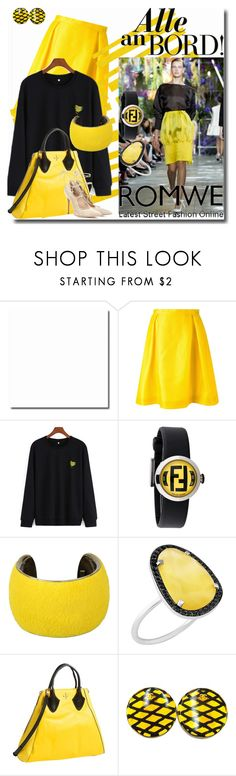 """Romwe Alle An Bord!"" by emperormpf ❤ liked on Polyvore featuring Ingie Paris, Giallo, Fendi, Isabel Marant, Christina Debs, Pour La Victoire, Chanel and Gianvito Rossi"