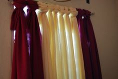 No-sew curtains  @Alaney Truitt  look at these.