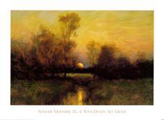 Summer Moonrise Art Print