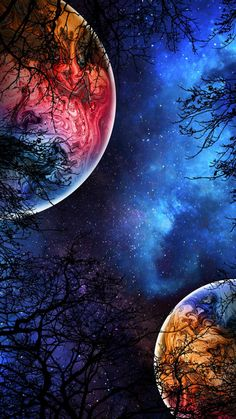 Planets Colliding IPhone Wallpaper - IPhone Wallpapers
