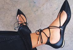Christy Lace-Up Flats