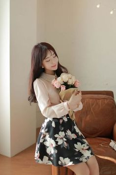 The happiest day of my life. . . receiving a bouquet from my love. #Koreanfashion