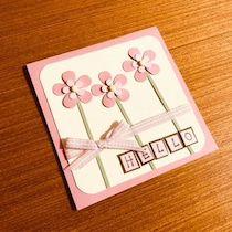 88.100均色画用紙でちょうちょのfor youカード(帯つき)   簡単手作りカード Chocolate Card Factory