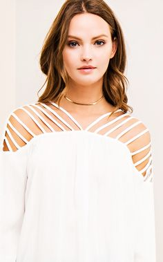c1118acc5 Whitley White Strappy Top PRE-ORDER - The Coral Cactus Boutique White  Strappy Tops,
