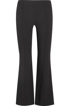 The Row - Beca Stretch-crepe Flared Pants - Black - US10