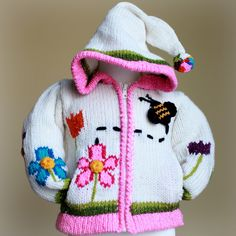 Bumblebee Sweater - This sweet little sweater is full of color and will keep your little energetic angel warm while she's buzzing around from one thing to another!