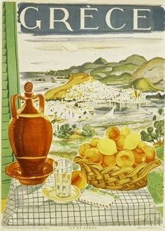 Vintage travel poster of Poros island Greece Vintage Italian Posters, Vintage Travel Posters, Vintage Ads, Vintage Style, Old Posters, Illustrations And Posters, Greece Tourism, Greece Travel, Tourism Poster