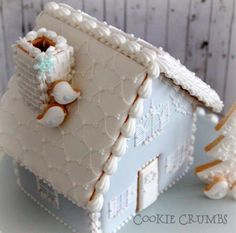 2014 winter gingerbread house の画像|~Cookie Crumbs~クッキー・クラムズのアイシングクッキー