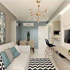 Condo Interior Design, Home Interior Design, Apartment Living Room Design, Apartment Decor, Living Room Scandinavian, Condo Interior, Small Living Rooms, Apartment Living Room, Home Deco