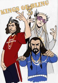 "Aragon, Thranduil, and Thorin ""Kings of Bling"""