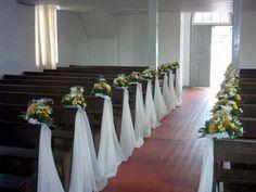 decoração de casamento na igreja simples e barato