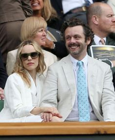Michael Sheen and Rachel McAdams. Love their expressions.