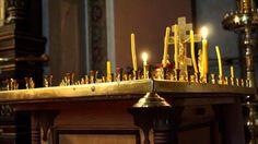 Piękna cerkiew pw. Aleksandra Newskiego w Łodzi od środka Candles, Candy, Candle Sticks, Candle