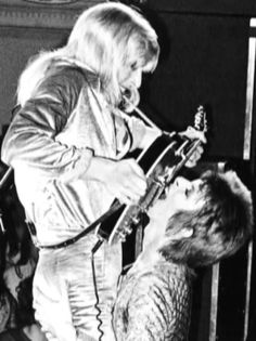 Mick Ronson and David Bowie