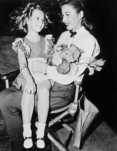 Today (July 16th) is Barbara Stanwyck's birthday! Here she is with Natalie during production of The Bride Wore Boots (1946).