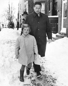 Caroline Kennedy with Secret Service agent Tom Wells.