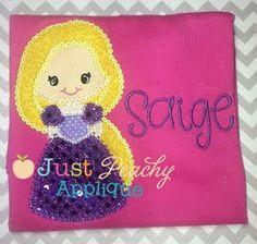 Rapunzel Princess Applique Design