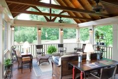 vaulted porch ceilings | Beams with vaulted ceiling