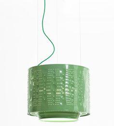 willem heeffer up-cycles washing machine to create drum lamps - designboom | architecture & design magazine