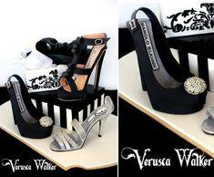 6706d5a382bb designer shoes and shoebox cake by Verusca Walker Bag Cake