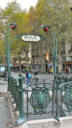 Michel metro entrance, Paris, and other great photos of France! Beautiful Paris, I Love Paris, Paris Travel, France Travel, Tour Eiffel, Paris France, Places Around The World, Around The Worlds, Metro Paris