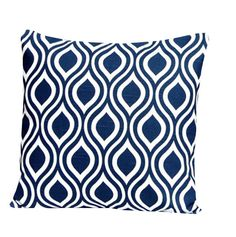 "BLUE THROW PILLOW - Blue  Pillow Covers -  20"" x 20 "" Decorative Pillow  Home Decor  Fabric front & back - Accent Pillow  Decorative"