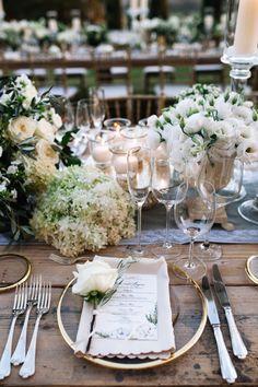 Rustic Tuscan wedding table decor: http://www.stylemepretty.com/destination-weddings/italy-weddings/2016/01/26/classic-romantic-destination-wedding-in-tuscany/ | Photography: Stefano Santucci - http://tastino0.it/