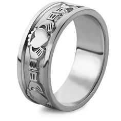 MS-WED2 Sterling Silver Men's Wedding Band