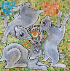 LYNNETTE SHELLEY : THREE HARES CHASE THE MOON