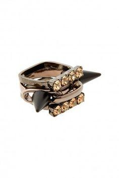 #boutique1.com            #ring                     #Boutique #JOOMI #Multi #Matte #Black #Crystal #Stack #Ring #Boutique1.com    Boutique 1 - JOOMI LIM - Multi Matte Black And Crystal Stack Ring | Boutique1.com                                                 http://www.seapai.com/product.aspx?PID=209349