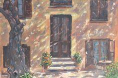 Az udvar / Avlu / Teracce 60 x 40 cm  oil on canvas