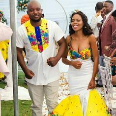 Beautiful Yellow Tsonga Bridesmaid's Dress 2020 African Wedding Attire, African Attire, African Wear, Tsonga Traditional Dresses, African Traditional Dresses, Traditional Wedding Attire, Wedding Dress Styles, Wedding Outfits, Latest African Fashion Dresses