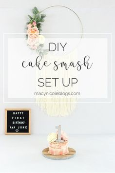 How to set up your own DIY cake smash photoshoot