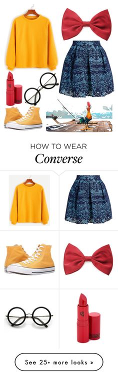 """""""HeiHei Inspired"""" by jaqsancake on Polyvore featuring Maje, Converse, Forever 21, Lipstick Queen and ZeroUV"""
