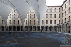 比利时蒙斯艺术广场隔膜状顶棚外-比利时蒙斯艺术广场隔膜状顶棚第3张图片