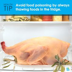 #TipTuesday - When thawing food, plan ahead! You should always  thaw/marinate foods in the refrigerator to guarantee the safest results.   A good rule of thumb to remember is that a turkey takes about 24 hours to thaw for every five pounds the turkey weighs. This means that a 20 lbs. turkey should sit in the fridge for at least four days.  #Thanksgiving #Turkey