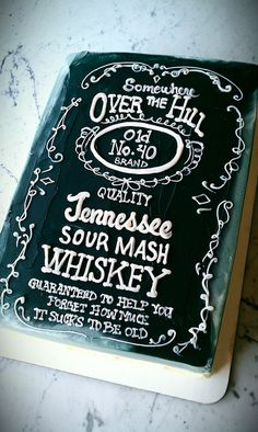 Jack Daniel S Theme Birthday Cake Men S 40th Birthday
