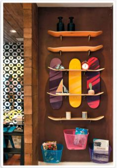 Boards como prateleiras