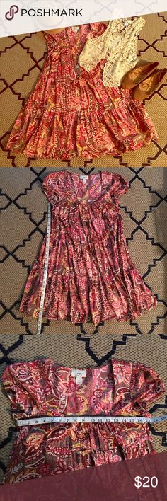 The Loft Bohemian Hippie Gypsy dress LIKE NEW! The LOFT Gypsy Bohemian Hippie dress. Sz. 6 (Small) see measurements in pictures. EXCELLENT CONDITION! No flaws!!! This dress is adorable!! Very Free People like! Please check out my other items for sale! New items listed daily! ********* Tags: Forever 21, Top Shop, H&M, Free People, Brandy Melville, Pacsun, Nastygal, Hot Topic, Lucky Brand, Urban Outfitters, Anthropologie, French Connection, Madewell, American Rag, Modf cloth, Dolls Kill, Rock…