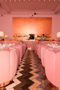 Afternoon Tea in London, all pink tea bar called Sketch.  Swoon!
