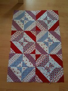 Tube quilting baby quilt top