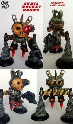 Skull Rocket Custom Kidrobot Dunny by Fer MG