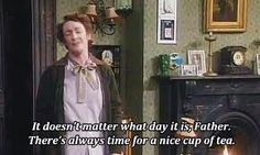 23 Things Everyone Who Really Fucking Loves Tea Will Understand - You think people who don't have tea when it's too warm are a tiny bit wimpy. Ted Quotes, Irish Quotes, Film Quotes, British Humor, British Comedy, Vicar Of Dibley, Father Ted, Positive Phrases, You Make Me Laugh