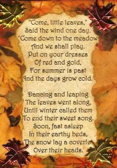 Mabon and the coming of autumn.