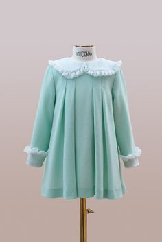 #handmade #embroidery. #couture #hautecouture #kids #dress #luxury #exclusive #limited #highfashion #fashion #Bibiona #mint