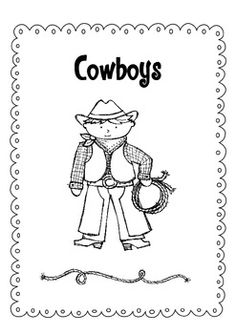 10 little felt cowboys used for fingerplays and counting